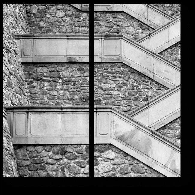 Модульная картина Необычная лестница в Братиславе