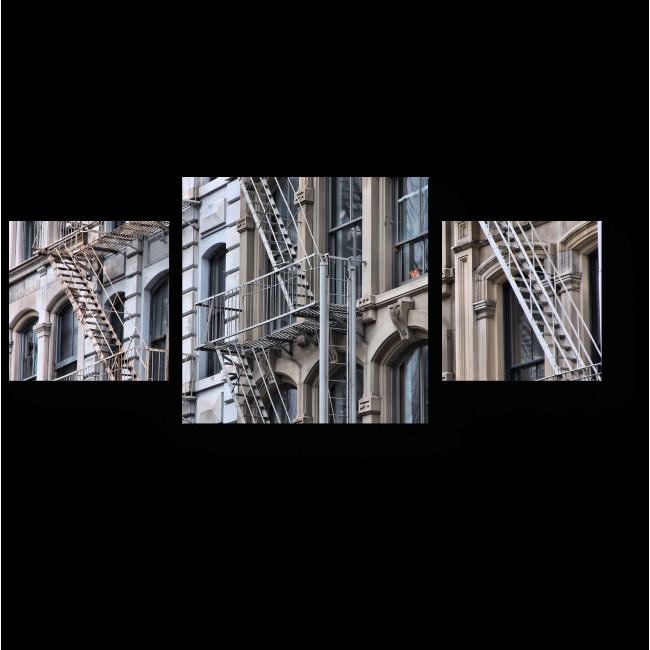 Модульная картина Пожарная лестница в Сохо