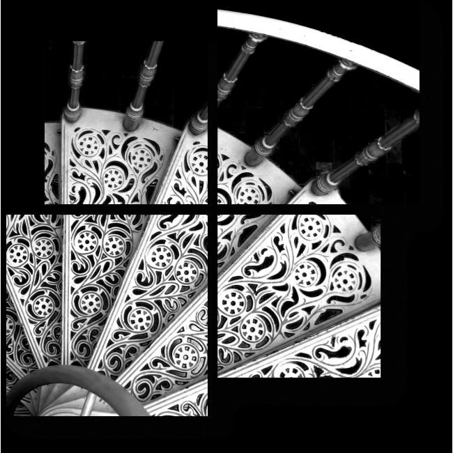 Модульная картина Винтажная лестница