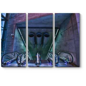 Современный эскалатор в метро