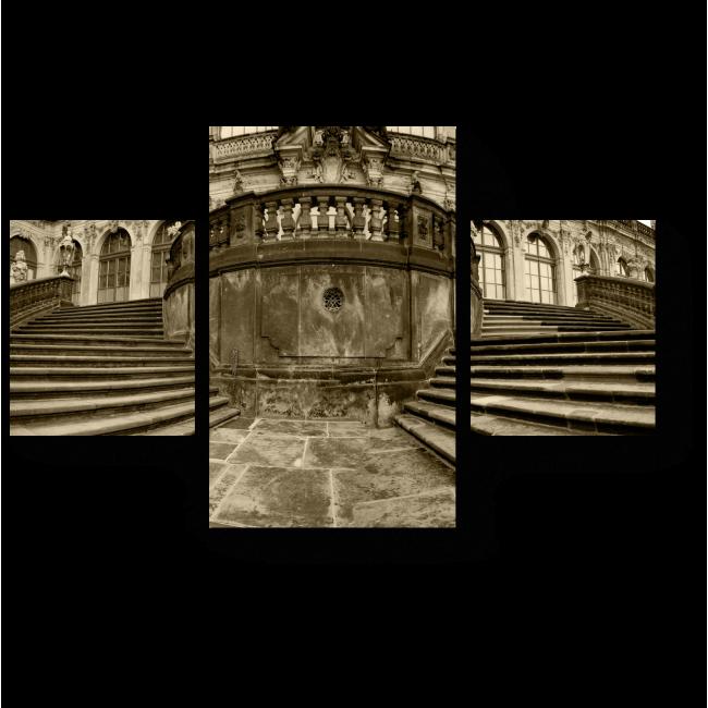 Модульная картина Лестница в стиле барокко