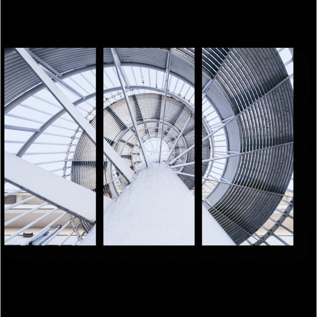 Модульная картина Стальная спиральная лестница