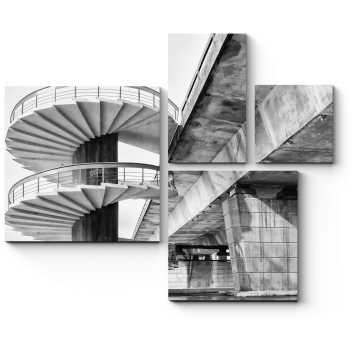 Спиральная лестница и мост