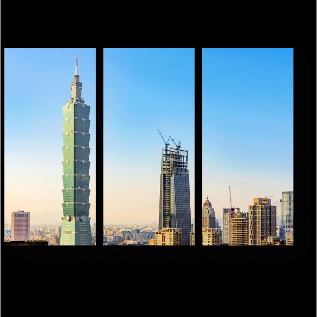 Модульная картина Небоскреб в Тайване