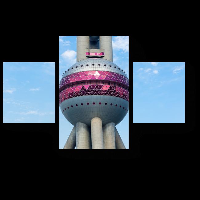 Модульная картина Китайская современная башня