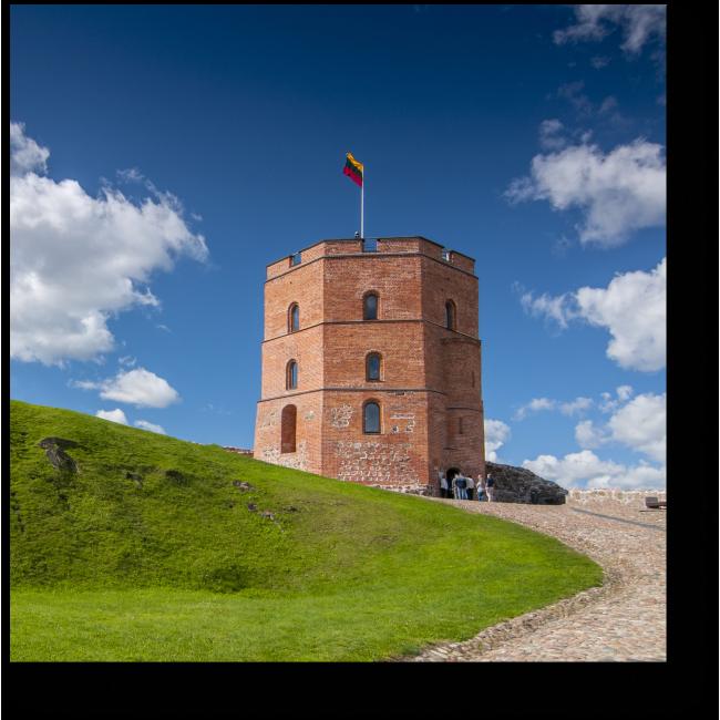 Модульная картина Башня Гедимина в Вильнюсе