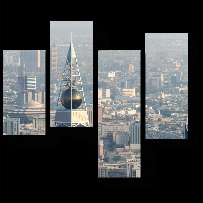 Модульная картина Город с высоты