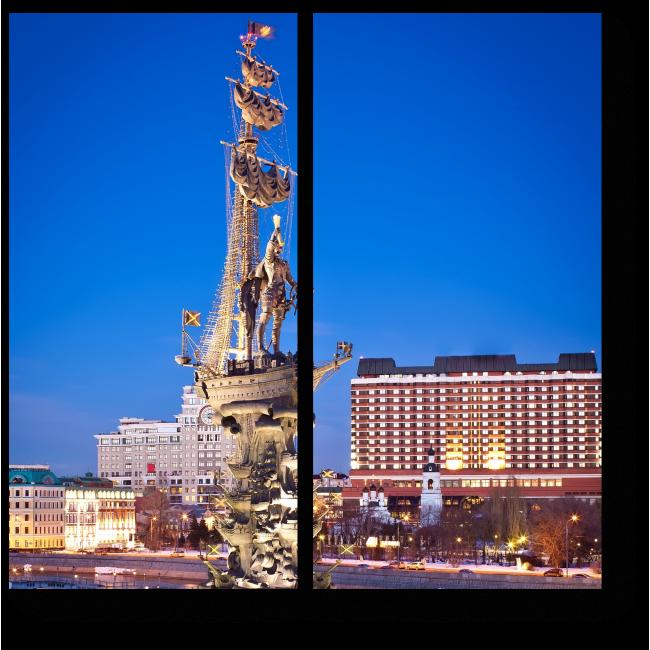 Модульная картина Памятник Петру 1 в Москве