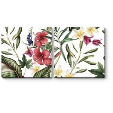 Модульная картина Тропическая флора