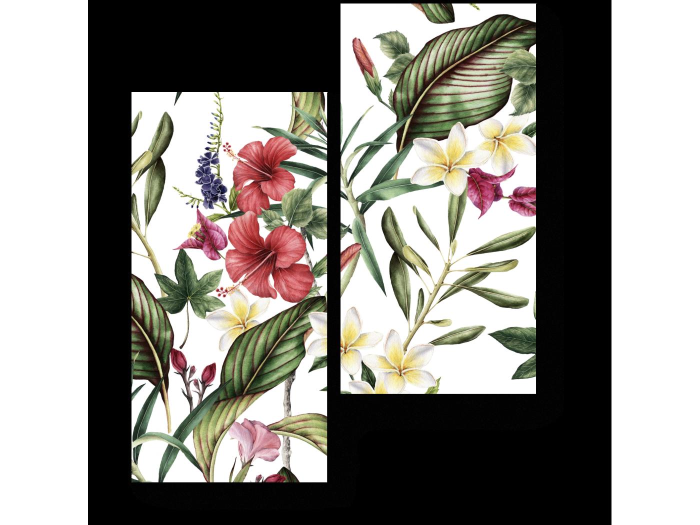 Модульная картина Тропическая флора (40x50) фото