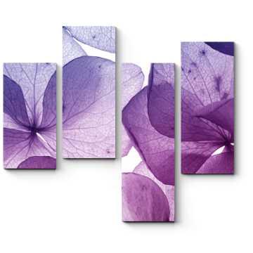 Модульная картина Тончайшие лепестки пурпура