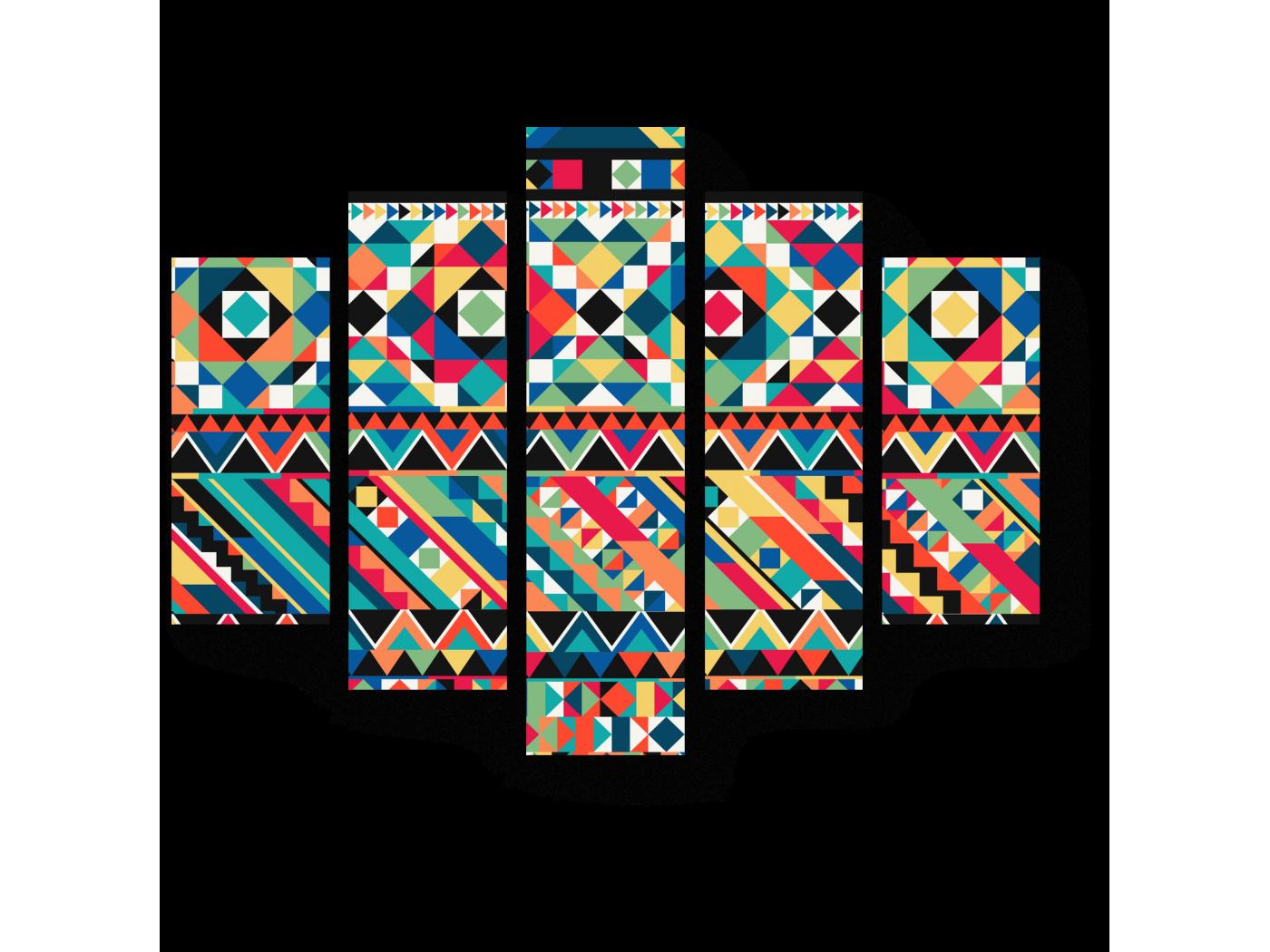 Модульная картина Мозаичная геометрия (75x60) фото
