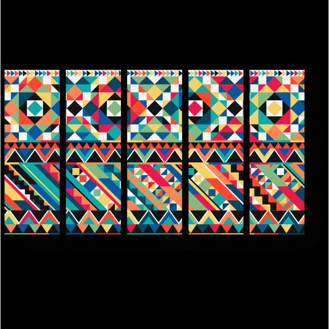 Модульная картина Мозаичная геометрия