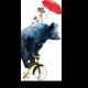 Стильный мишка на велосипеде