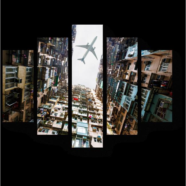 Модульная картина Пролетая над Гонконгом