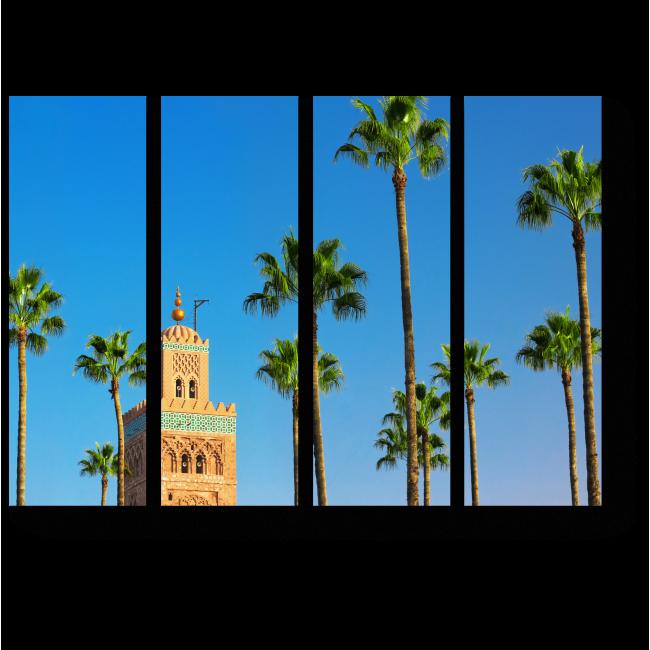 Модульная картина Сказочная мечеть в Морокко