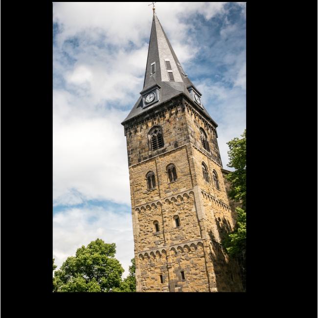 Модульная картина Средневековая башня