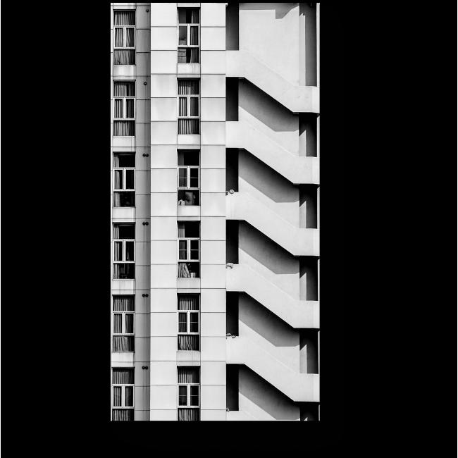 Модульная картина Современный стиль - монохром