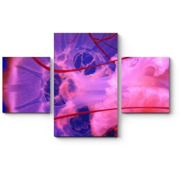Модульная картина Розовая медуза
