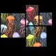 Разноцветные медузы