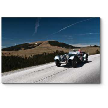 Ягуар СС 100 участвует в ралли ретро-автомобилей