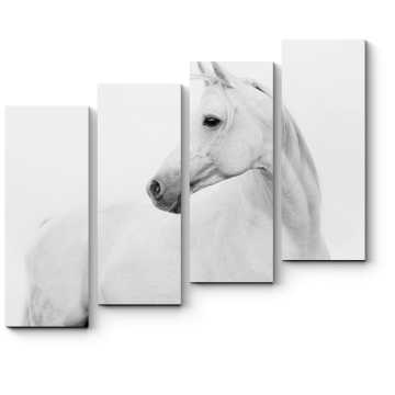 Белая лошадка