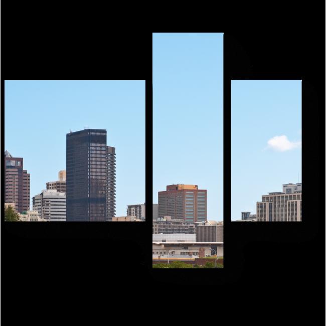 Модульная картина Городской пейзаж Кейптауна