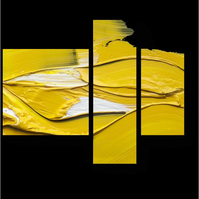 Модульная картина Желтым по черному
