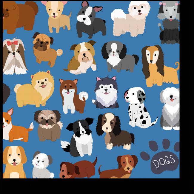 Модульная картина Такие разные собаки