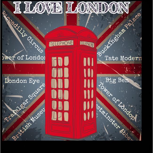 Модульная картина Открытка из Лондона