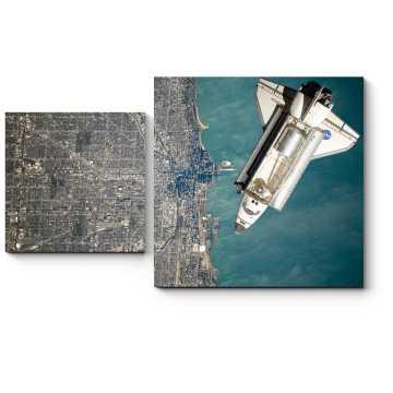 Модульная картина Пролетая над Землей