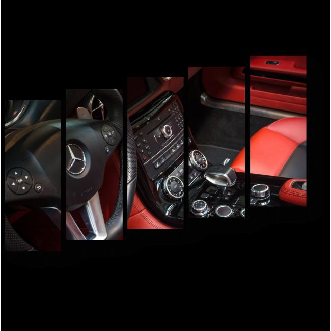 Модульная картина Салон автомобиля мечты