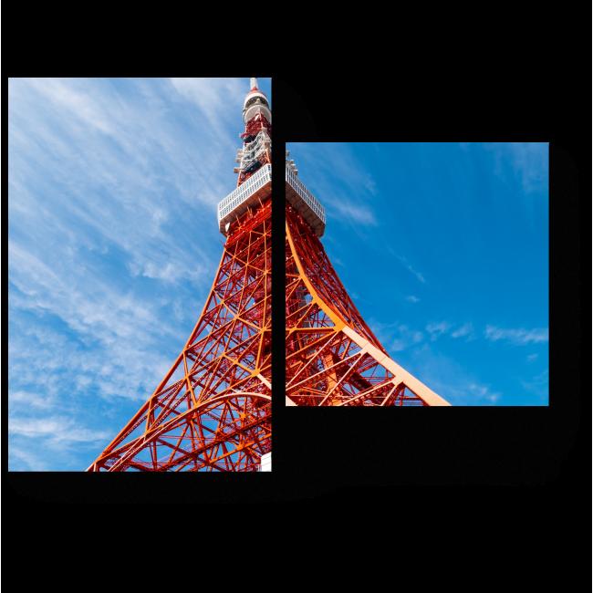 Модульная картина Телебашня в Токио