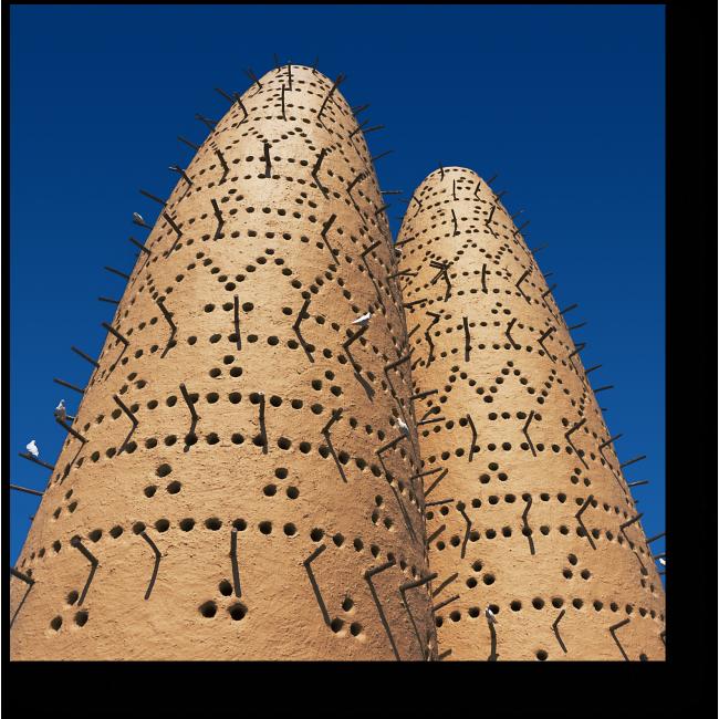 Модульная картина Голуби на башне в Катаре