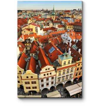 Модульная картина Старые крыши Праги