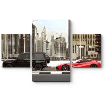 Модульная картина Роскошные автомобили в Дубае