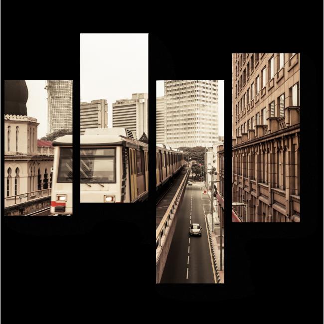 Модульная картина Метро в Куала-Лумпур