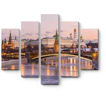 Модульная картина Зимнее утро в Москве