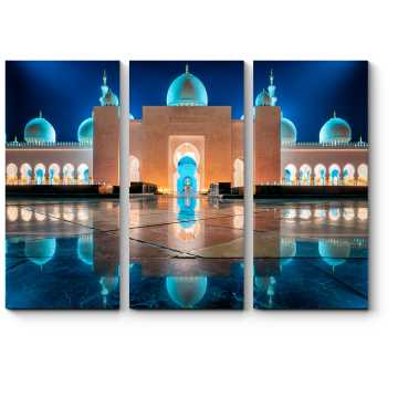 Модульная картина Сияющая в ночи Мечеть
