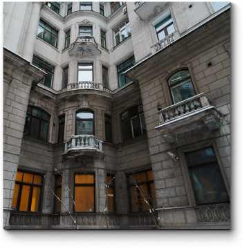 Модульная картина Классический фасад здания