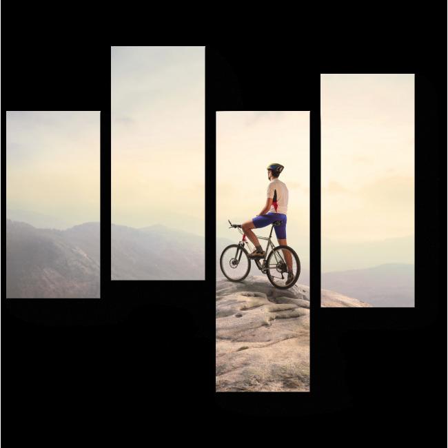 Модульная картина На вершине холма