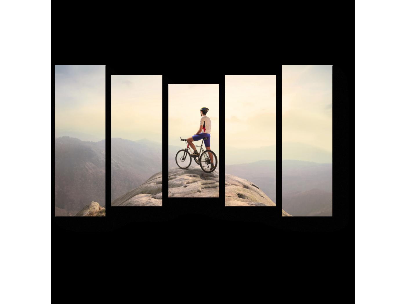 Модульная картина На вершине холма (90x54) фото