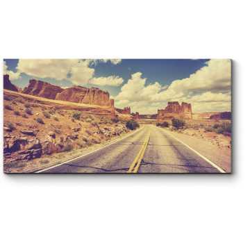 Модульная картина Закат над пустыней Калифорнии