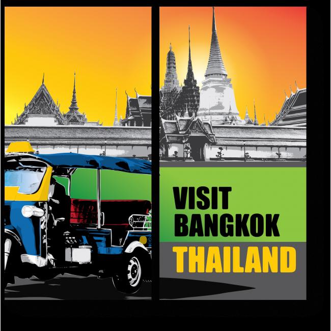 Модульная картина Неподражаемый Бангкок