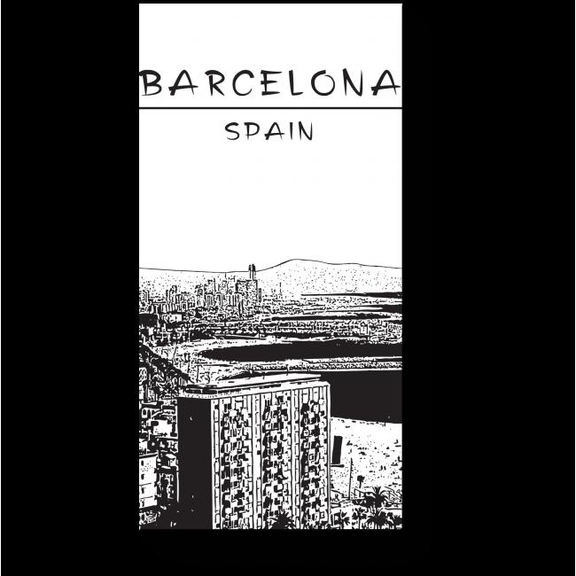 Модульная картина Черно-белая Барселона