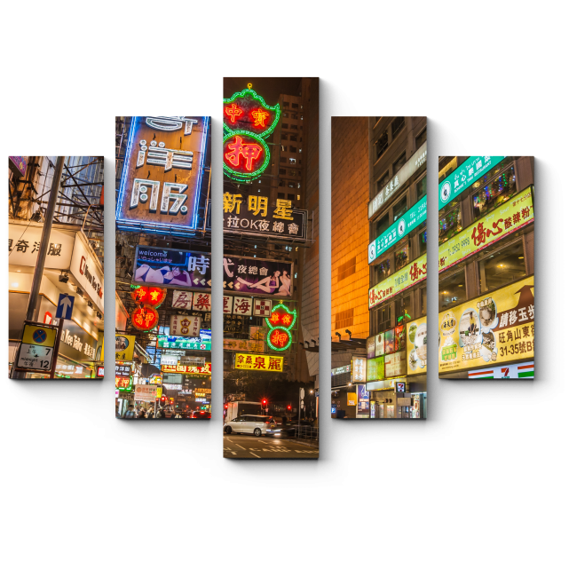 Модульная картина Монгкок-шоппинг центр Гонконга
