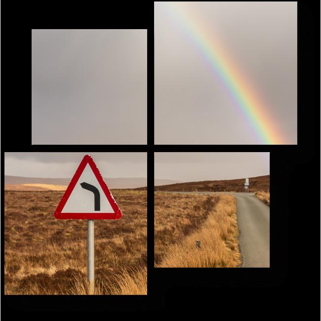 Модульная картина За линию горизонта
