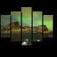 Северное сияние над фьордами