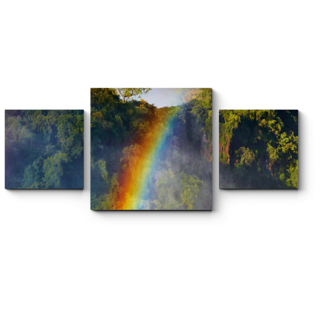 Модульная картина Прокатись на радуге!