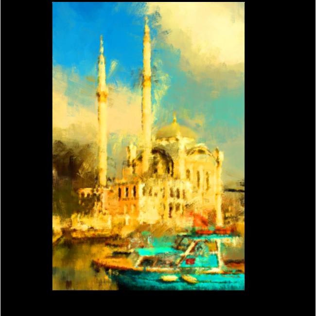 Модульная картина Стамбул маслом